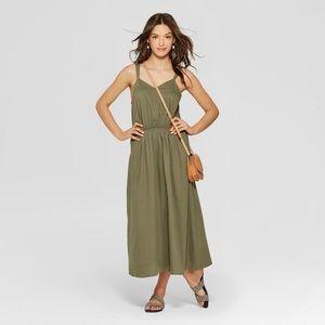 Universal Thread Herringbone Green Maxi Dress L